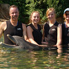 Discovery Cove, Orlando : Swimming with the dolphins